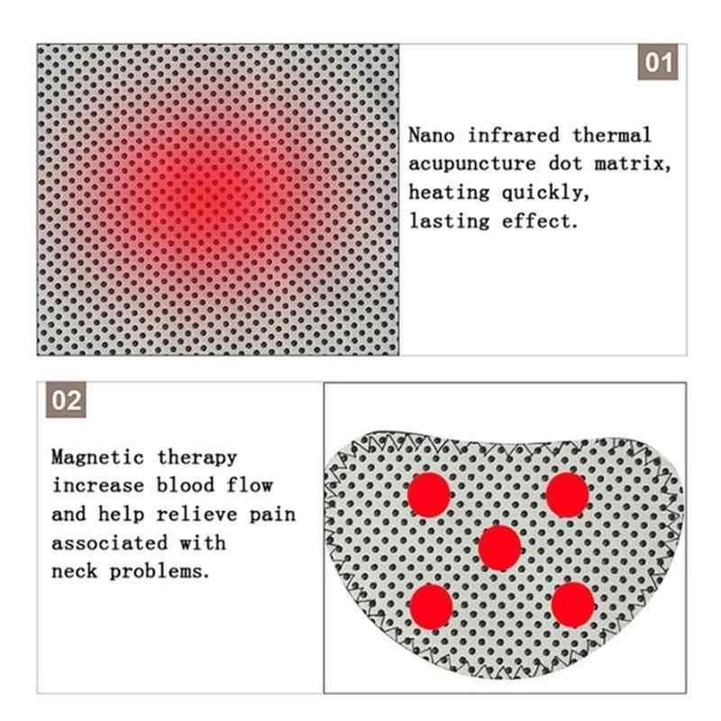 นวดคอเข็มขัดด้วยตนเองซับMagnetotherapyห่อกระดาษป้องกันคอStripสนับสนุนเข็มขัดนวดสำหรับHealthcare