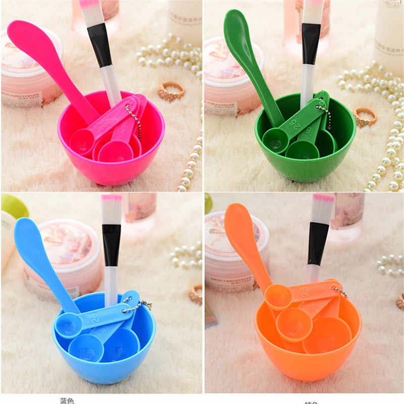4 in 1 DIY Facial Mask Mixing Bowl Brush Spoon Stick Brush Face Care Set Women Facial Beauty Professional Kits Tools