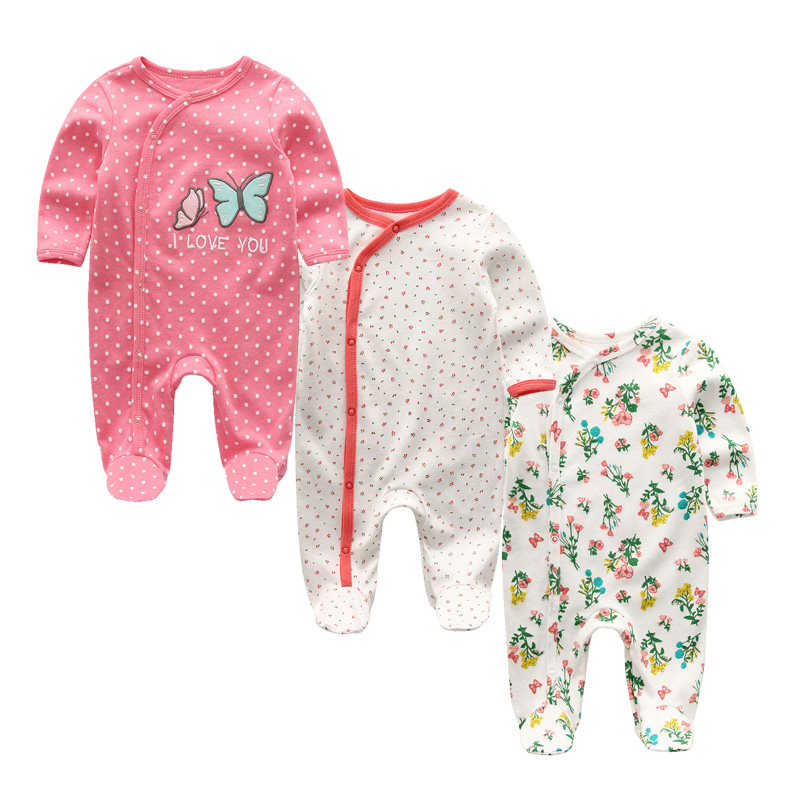 H6bae2d9165e649f09e30747a317b7de5p 3 PCS/lot newbron winter Baby Rompers Long Sleeve set cotton baby junmpsuit girls ropa bebe baby boy girl clothes