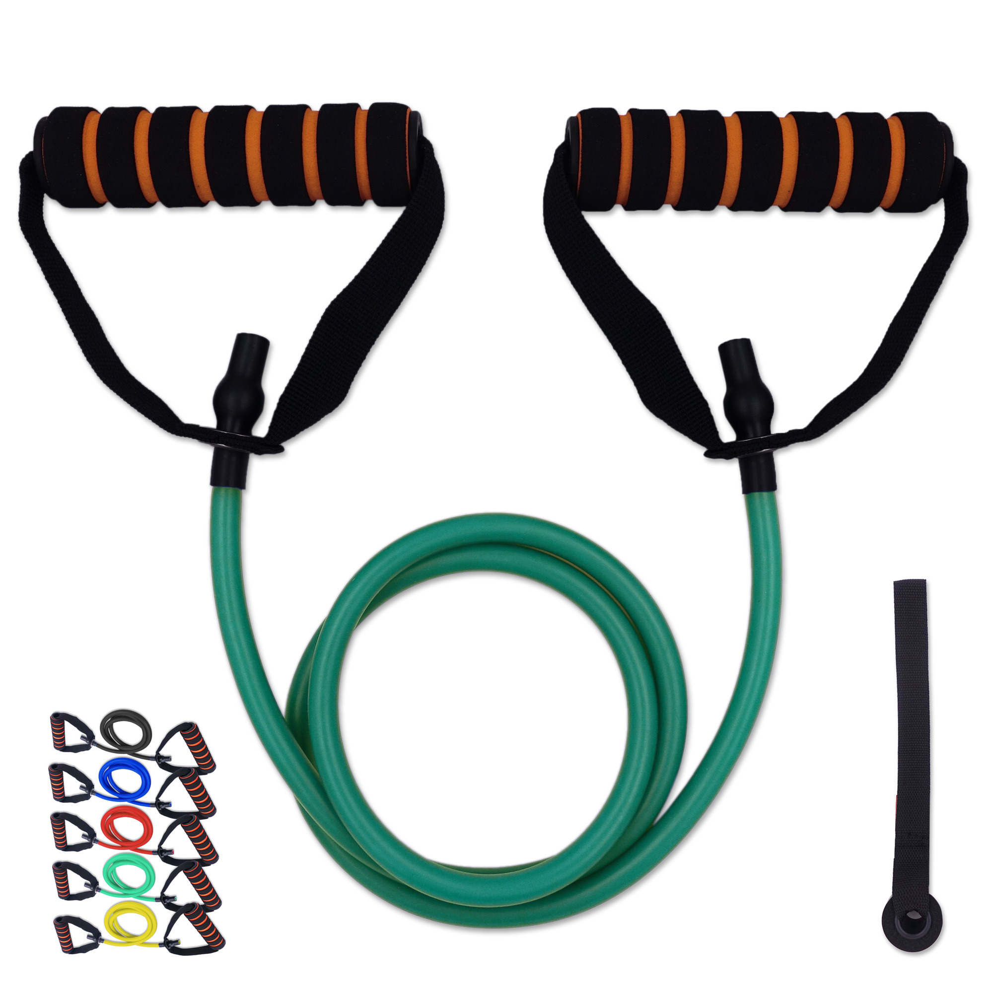 120cm Resistance Elastic Bands Tube With Foam Handles For Exercise Fitness Pilates Strength Training Home Gym Workout Equipments