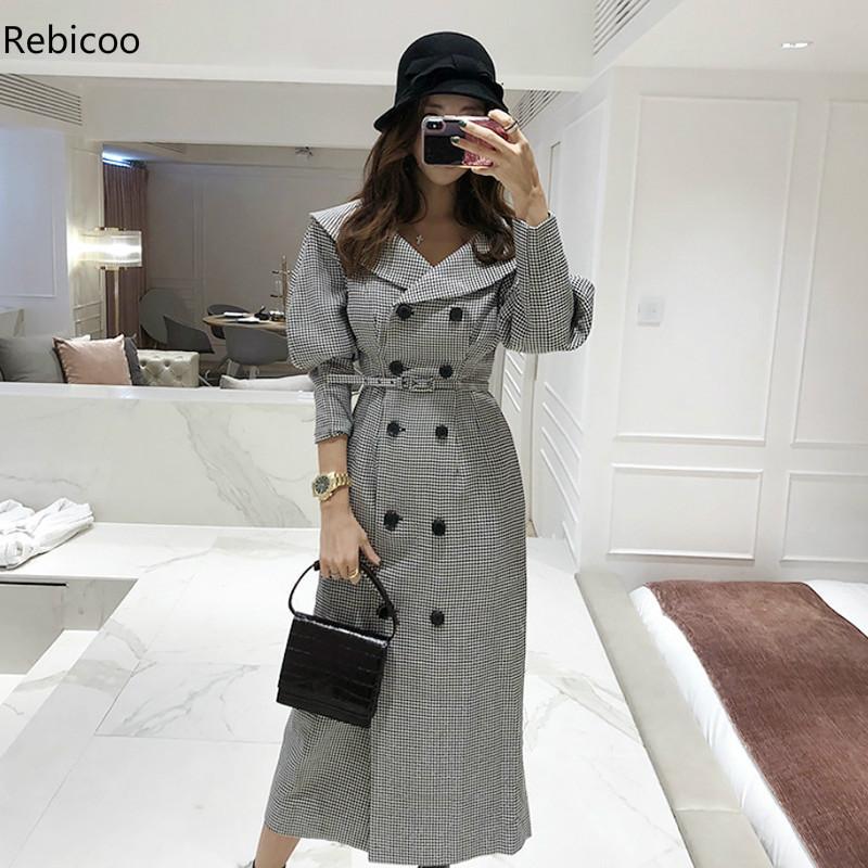 Mode femmes confortable chaud long manteau nouveauté haute qualité OL tempérament vêtements d'extérieur épais vacances en plein air tendance trench