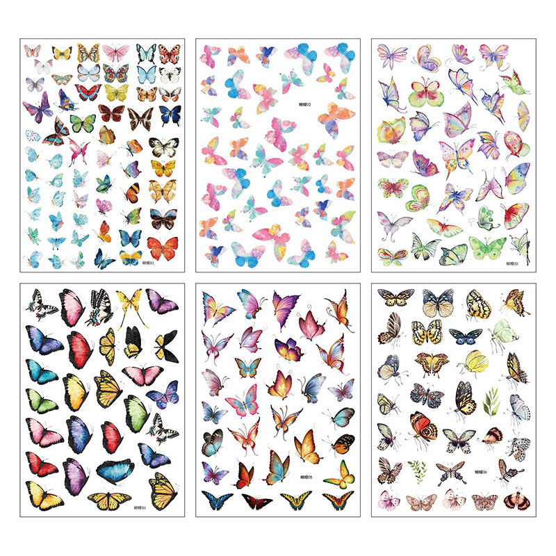 1Sheet Cute Stationery Sticker Kawaii Butterfly Decor Sticker List Journal Sticker For Kids Girls Diy Scrapbooking Diary Album