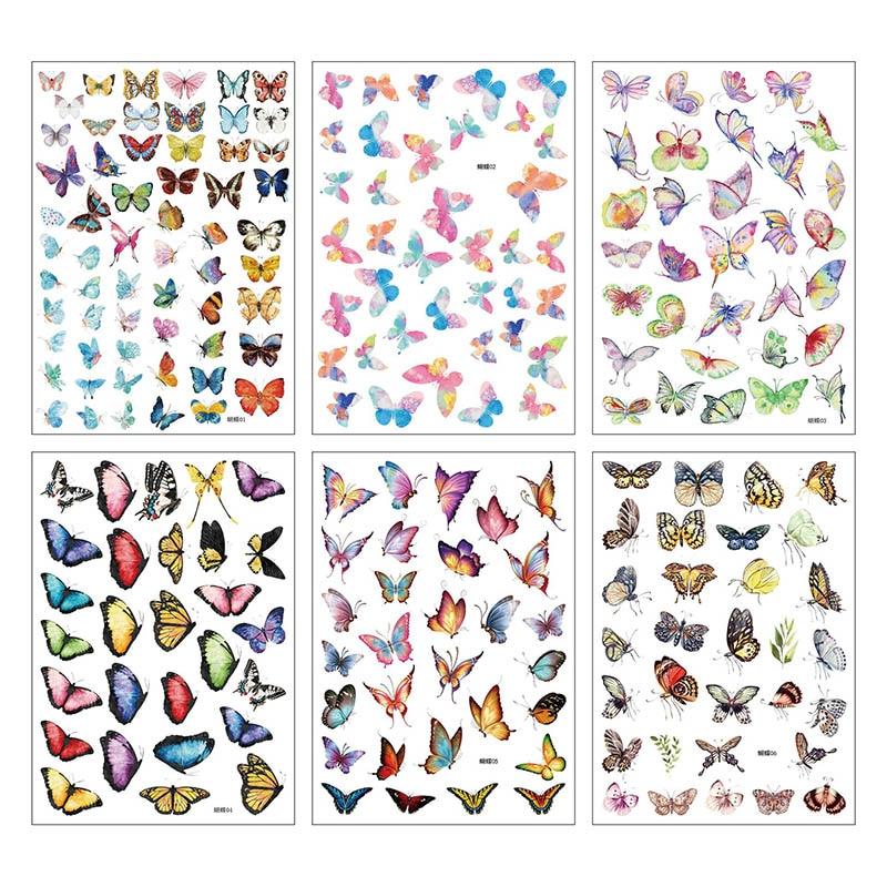 1Sheet Cute Stationery Sticker Kawaii Butterfly Decor Sticker List Journal Sticker For Kids Girls Diy Scrapbooking Diary Album