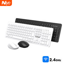 Ergonomische Draadloze Toetsenbord Muis Set 2.4G Office Gaming Usb Full-Size Toetsenbord Muis Combo Set Voor Notebook Laptop desktop Pc(China)