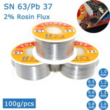 63/37-Flux Rosin-Core Solder-Wire No-Clean MELTED 100g Lead Tin 45FT Brand-New