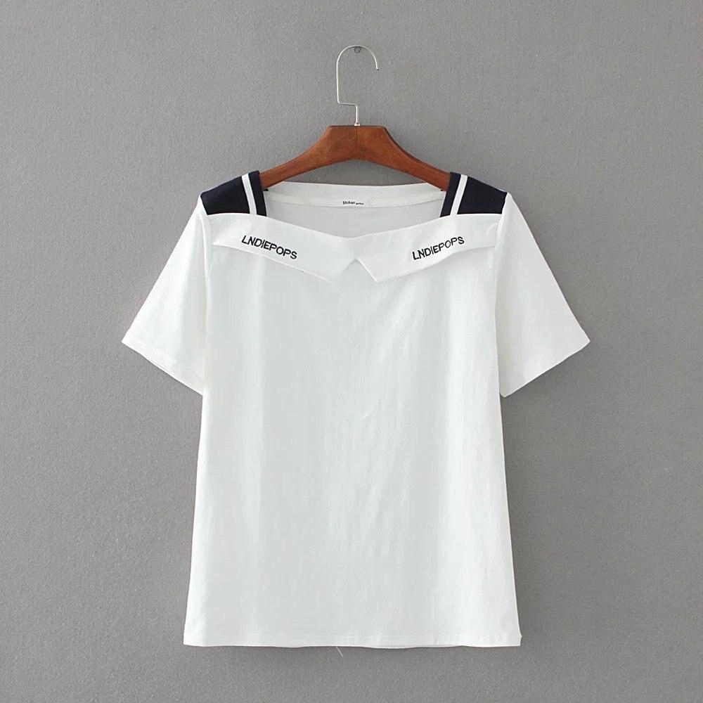 Summer New Style Women Tshirt Print Short Sleeve Round Neck Women T-shirt