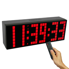 Programmable LED Interval Timer Digital Clock Big Stopwatch Home Gym Fitness Clock Desk Decor elekstube programmable 6 bit rgb glow digital clock nixie tube clock kit diy electronic retro desk clock 5v micro usb powered