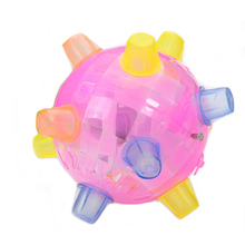 Dog Ball Glowing Pet Toy Music Creative Flashing Dancing Fun Jumping Balls Interactive Supplies