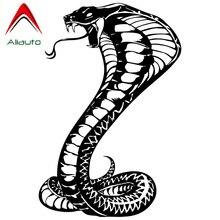 Aliauto индивидуальные наклейки для автомобиля змеиная рептилия виниловые аксессуары для мотоциклов Водонепроницаемые Светоотражающие креативные наклейки, 22 см* 15 см