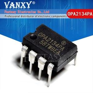 Image 1 - Amplificadores de AUDIO de alto rendimiento, 5 uds., OPA2134PA DIP8 OPA2134P DIP OPA2134 DIP 8 2134PA