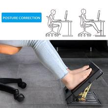 Adjustable Footrest With Removable Soft Foot Rest Pad Max-load 120lbs Stool For Car Under Desk Home Train 4-level Height Adjust