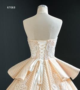 Image 5 - J67063 Jancember Quinceanera שמלות סטרפלס ללא שרוולים לפרוע אפליקצית דפוס תחרה עד בחזרה Vestidos Dulces 16