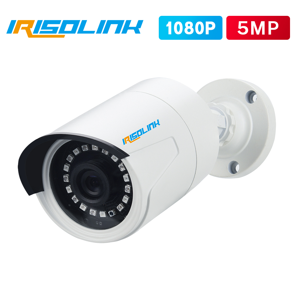 Irisolink Surveillance Video Camera 1pcs 1080P/5MP 4-in-1 Security Camera IP66 Waterproof Nightvision Outdoor CCTV Camera