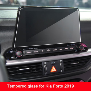 Tempered Glass Protective Film For KIA K3 Cerato Forte BD 2019 2020 ar Styling GPS Navigation Screen image