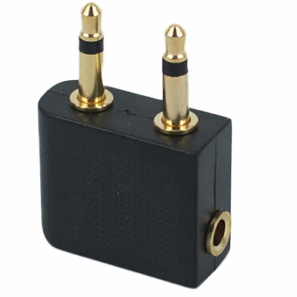 3.5mm złącze stereo gniazdo słuchawki słuchawki adapter gniazda do samolotów lotniczych adaptery