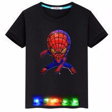 Cartoon children's clothing colorful bright boys spider-man