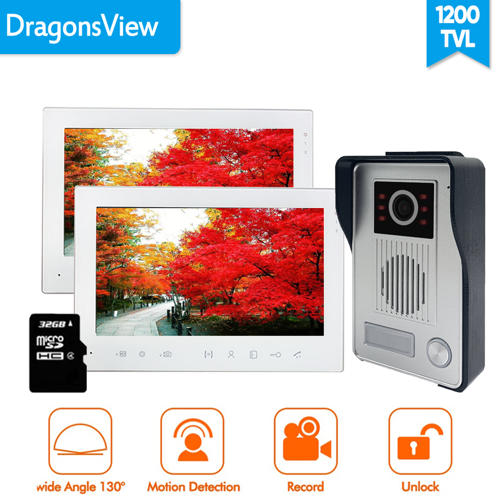 [Wide Angle] Dragonsview  Video Door Phone 1200TVL Doorbell With Camera Home Intercom System