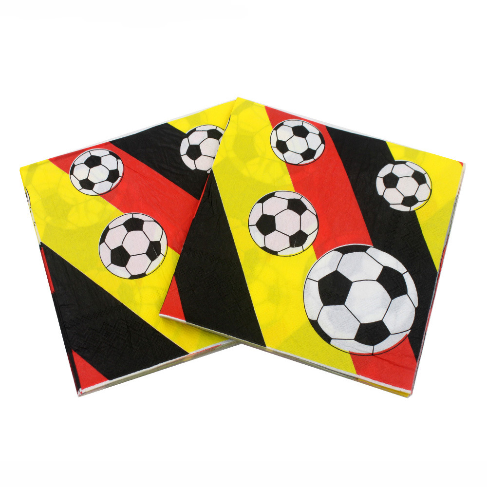 [] Multi-color Printed Napkin Football 2018 Football World Cup Bar Restaurant Decoration
