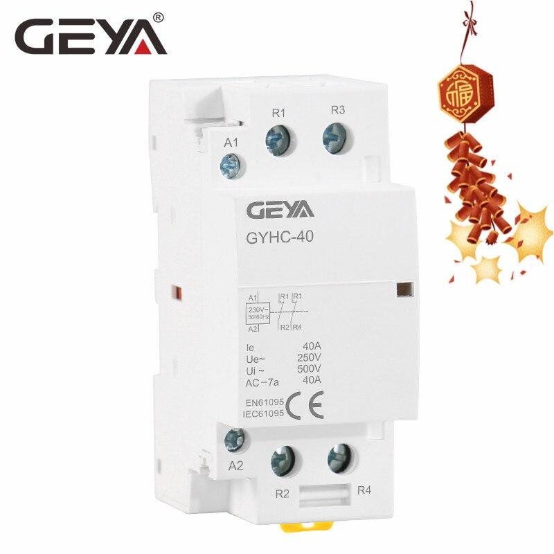 24V 2P 20A 24V 220V 60Hz Contactor de CA para el hogar 2 polos Montaje en riel DIN 1NO 1NC Contactor de CA de repuesto 230V 50 Contactor de CA para el hogar