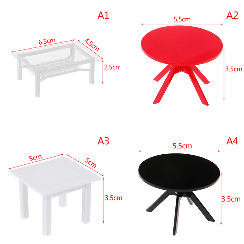 New Miniature 1/12 Dollhouse Furniture Wave-Edged Coffe/End Table Living Room Decoration Kids Gift