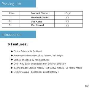 Image 2 - Stabilizing ของขวัญ Multifunction แบบพกพาโทรศัพท์สมาร์ทชาร์จ USB Handhold Gimbal ติดตั้งง่าย Travel คงที่ Smooth ผู้ถือ