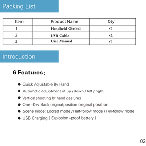 Image 2 - Stabilizzazione Regalo Multifunzione Portatile Smart Phone USB di Ricarica Maniglia del Giunto Cardanico Facile Da Installare Da Viaggio Costante Liscio Holder