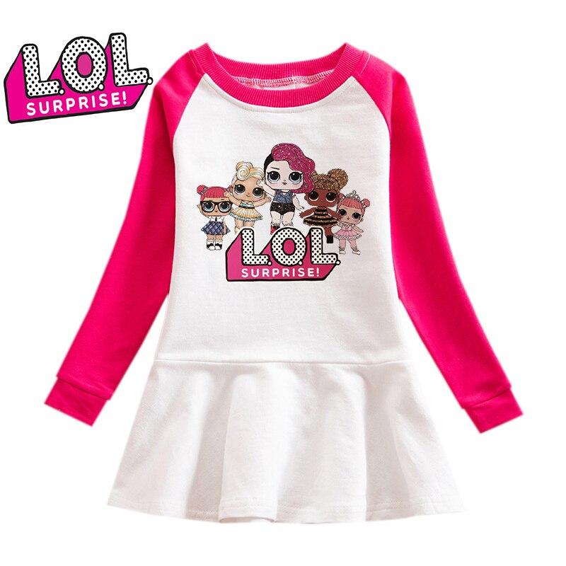 LOL сюрприз куклы девушки одежда с капюшоном свитер платье толстовки пуловер Lol кукла хлопок мультфильм Повседневная Женская одежда подарки ...