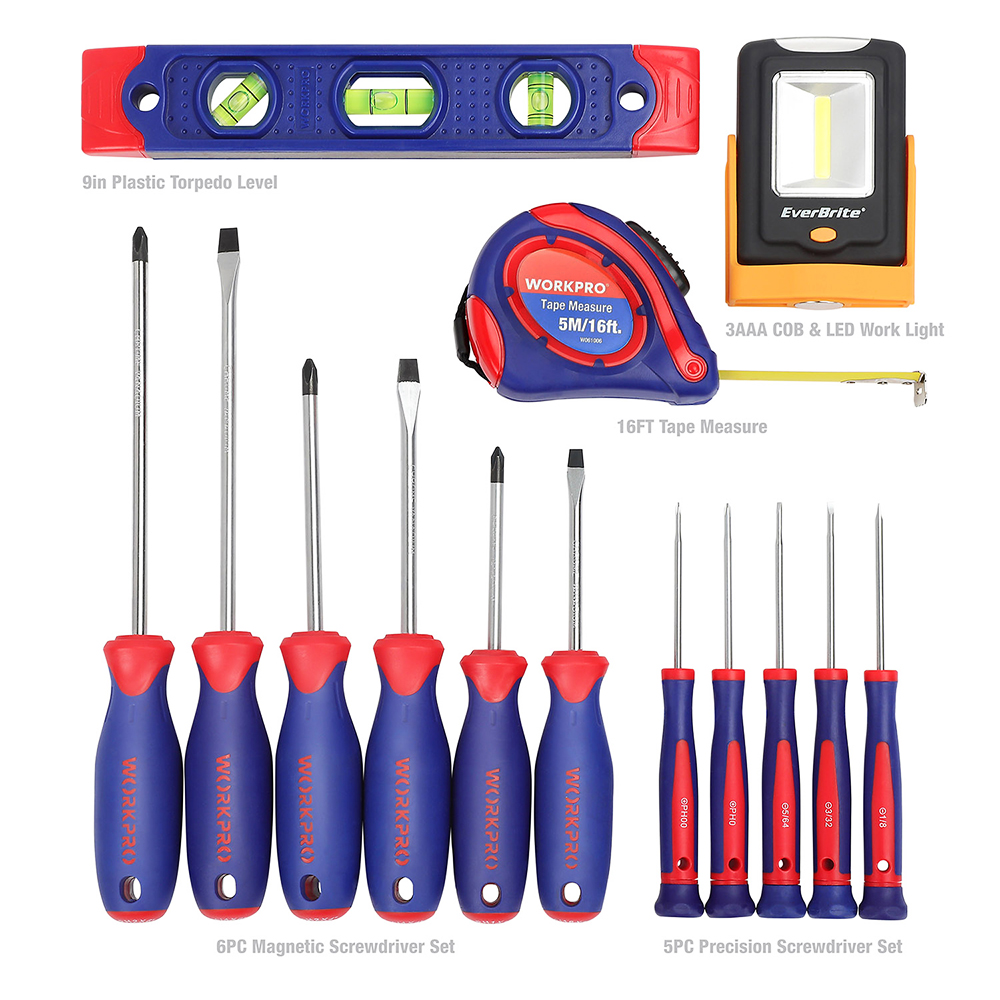Tools Set Set Tool Screwdriver Bag Home WORKPRO 54PC Electrical Household Tool