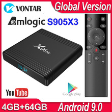 X96 אוויר אנדרואיד טלוויזיה תיבת אנדרואיד 9.0 Amlogic S905X3 חכם טלוויזיה תיבת 4K אנדרואיד תיבת 4GB 64GB x96Air Quad Core 2.4G & 5G Wifi BT4.1 H.265