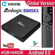 X96 ar android caixa de tv android 9.0 amlogic s905x3 smart tv caixa 4k android 4gb 64gb x96air quad core 2.4g & 5g wifi bt4.1 h.265