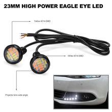 White Lights Amber Eagle Eye Set 2pcs 23mm 4014 12SMD LED Dual Color 10~14V DC Hohe Qualität