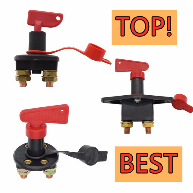 Car Battery Power Kill Switch High Current Battery Disconnect Isolator Cut OFF Switch for Car Marine Boat Rv ATV 12V 300 A