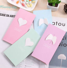 Love 3D Heart Cards Valentines Day Gift Postcard and Stickers Wedding Invitation Greeting Cards Anniversary for Her(China)