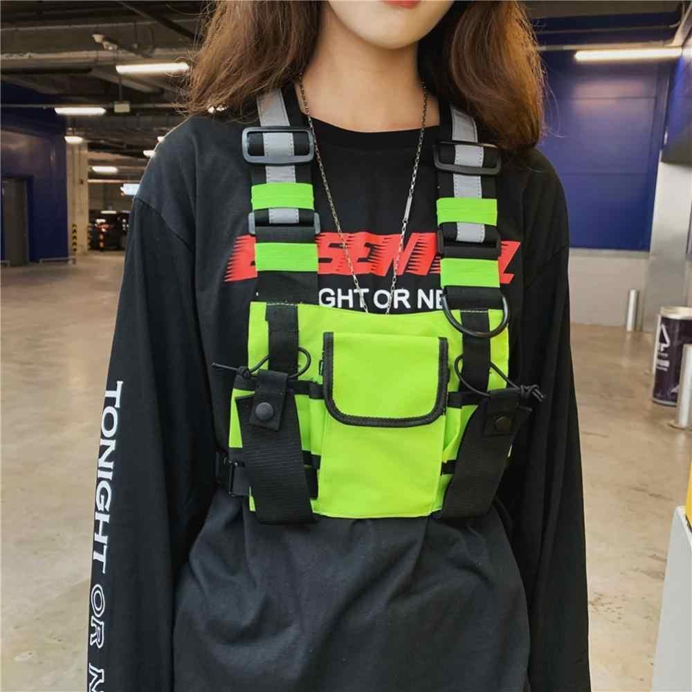 Men Outdoor Harness Chest Bag Vest Hip Hop Streetwear Outdoor Tactical