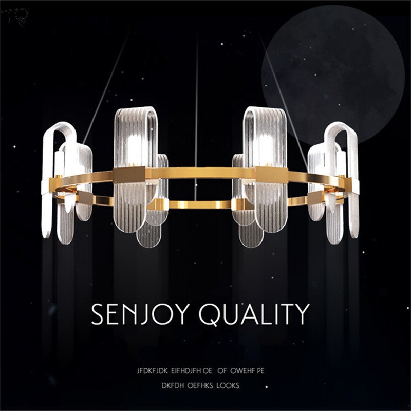 Simple Fashion Lustre Led Ring Chandeliers Lighting Modern Creative Personality Luxury Atmosphere Designer Luminaire Living Room in Chandeliers from Lights Lighting