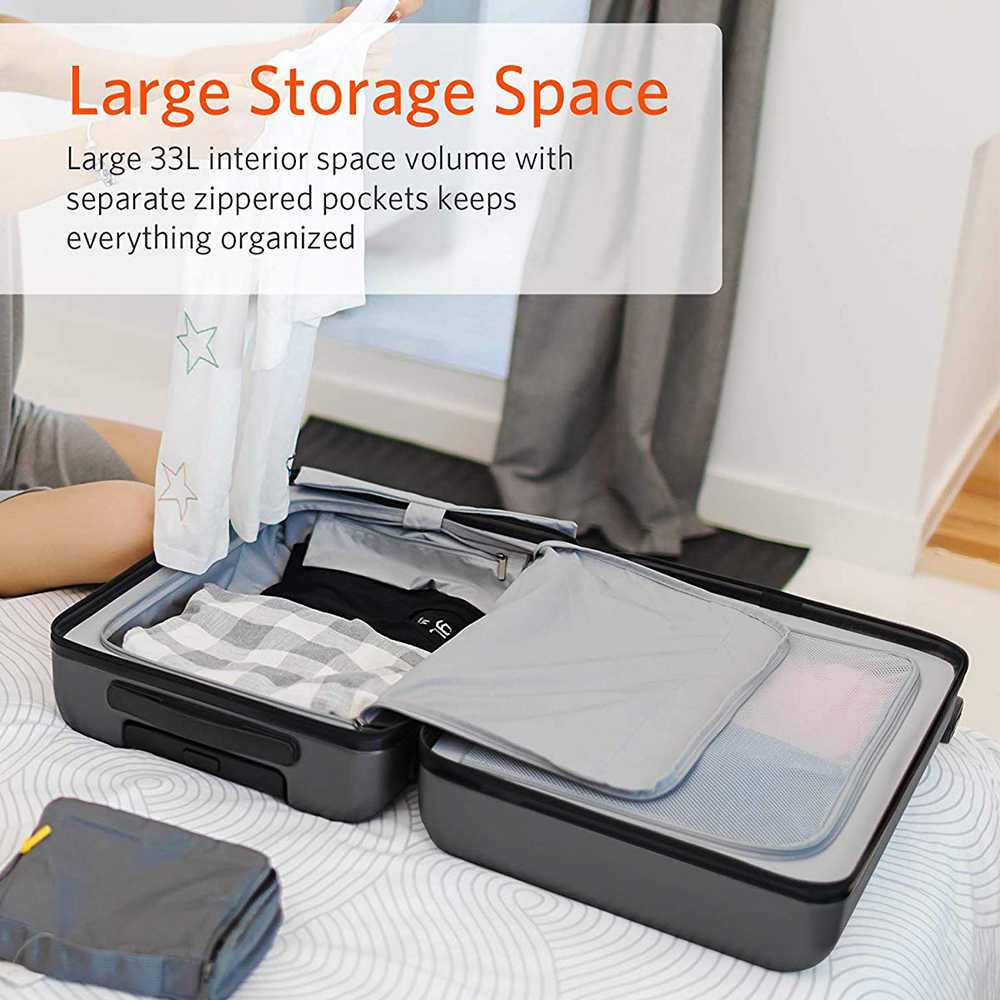 NINETYGO 90FUN Tragen Auf Gepäck 20 zoll 4-rad spinner Leichte Hardshell PC Koffer mit TSA Schloss für Reise business