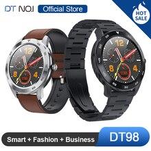 No. 1 DT98 Akıllı İzle IP68 Su Geçirmez 1.3 inç Tam Yuvarlak HD Ekran EKG Algılama Çok Dials Smartwatch Spor Izci Erkekler Şık İş Moda İzle