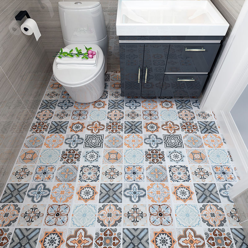Papel pintado de suelo autoadhesivo, pegatinas impermeables para baño, papel tapiz 3d, baldosas para suelo, dormitorio, cocina, piso, pegatinas antideslizantes para pared