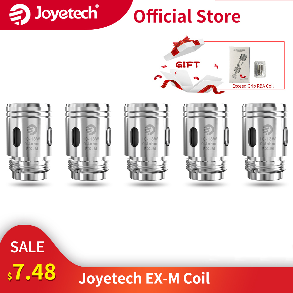 Gift RBA Coil Original Joyetech EX-M Coil Head 0.4ohm/0.8ohm Mesh Coil For Exceed Grip Kit Replacement Coil E-Cigarette