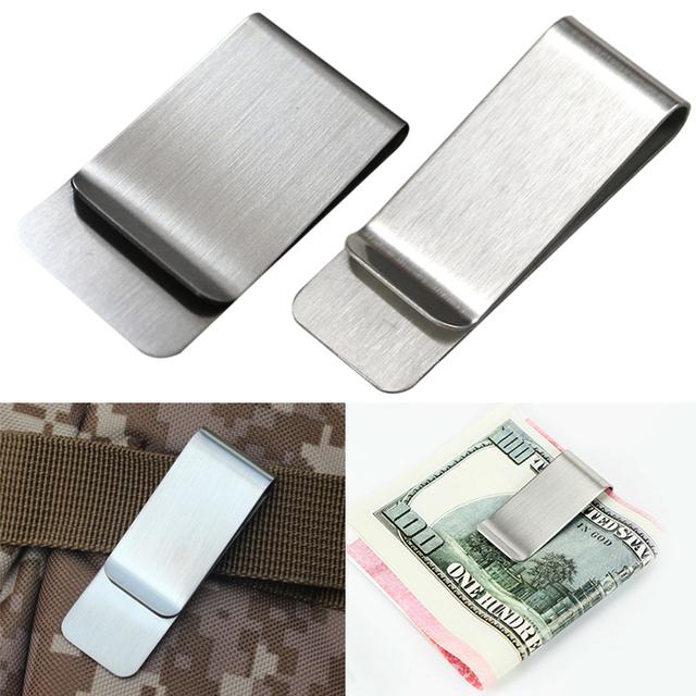 Simple Metal Clip Money Clip Cash/Card Holder