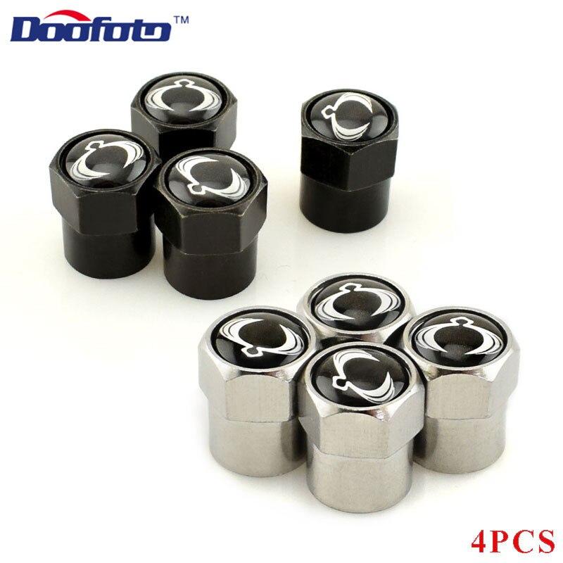 Doofoto 4x Car Valve Caps Wheel Tire Tyre Stem Cover For SsangYong Actyon Kyron Korando Rexton Tivoli Accessories Car Styling