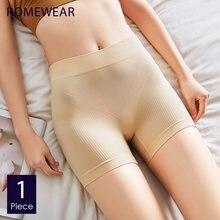 Romewear novas mulheres de segurança calças curtas algodão náilon sem costura cintura alta cueca boyshorts verão meninas emagrecimento forma calcinha