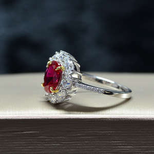 Image 4 - · ウォン雨ヴィンテージ 100% 925 スターリングシルバー作成モアッサナイト用原石の婚約指輪ファインジュエリーギフト卸売