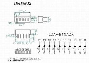 Image 2 - 50pcs 10 세그먼트 LED 막대 그래프 배열 번호 LED 징후 큐브 레드 라이트 바 그래프 그래픽 바 디스플레이 레드 10 바 LED 디스플레이 보드