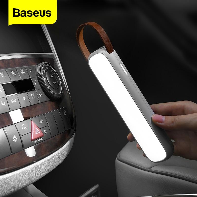 Baseus Solar Wiederaufladbare LED Notfall Licht für Auto Home Haus Nacht Camping Laterne Road Sicherheit Lampe Falshlight Warnung Licht