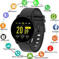 2019 nowy inteligentny zegarek IP68 wodoodporna opaska monitorująca aktywność fizyczną pulsometr sterowanie muzyką mężczyźni kobiety smartwatch dla androida IOS + Box