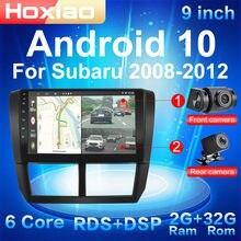 Автомобильная Мультимедийная система 2 Din на Android 10, с четырехъядерным процессором, 2-мя камерами, Wi-Fi, GPS, Bluetooth, для Subaru Forester, Impreza 2008-2012