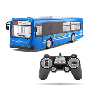 Image 1 - RC Car 6 Channel 2.4G Remote Control Bus City Express High Speed One Key Start Function Bus with Realistic sound and Light