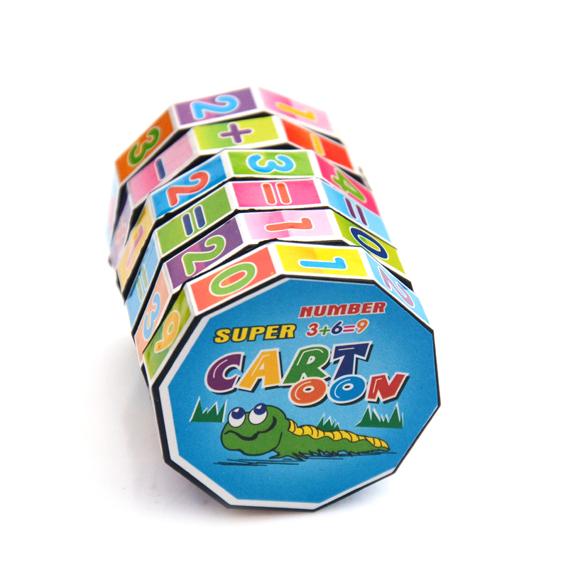 Free Shipping Magic Cube Early Education Children Digital Magic Cube Puzzle Toy Cylindrical Magic Cube High Quality