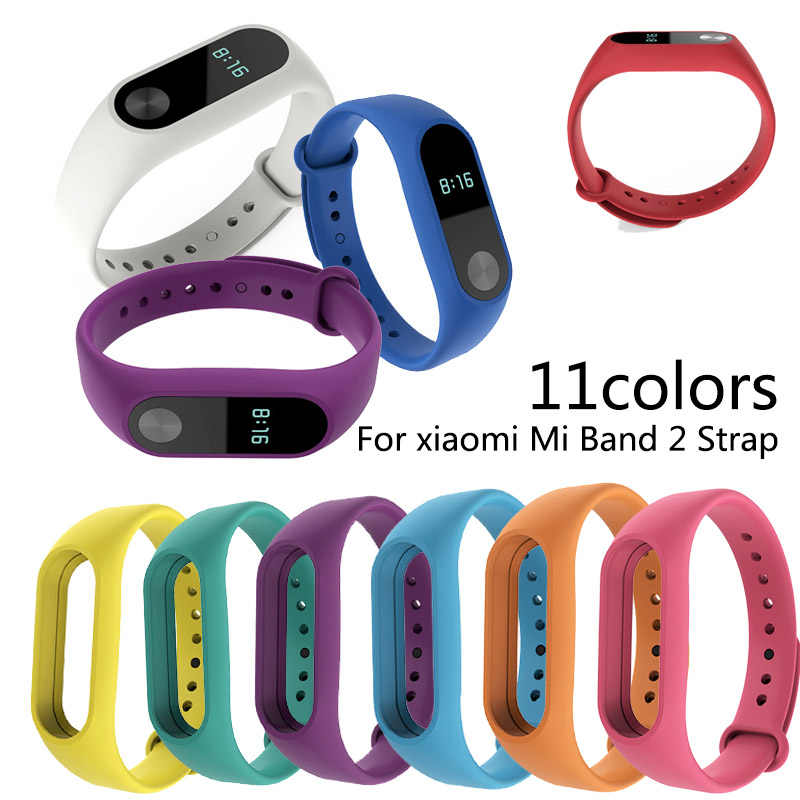 Smart Horloge Voor Xiao Mi Mi Band 2 Armband Band Mi Band Vervanging Siliconen Band Polsband Voor Xiao Mi Band 2 Accessoire TXTB1